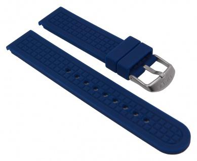 Uhrenarmband Silikon Band dunkelblau 20mm passend zu Timex T2P032 T2P030 T2P031 T2P029 T2P034 T2P035