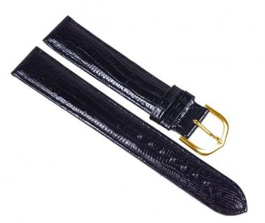 Minott Eidechs-Narbung Uhrenarmband Kalbsleder Band XL schwarz 23580G