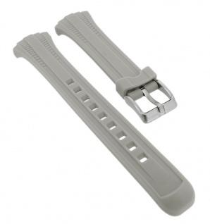 Calypso Ersatzband aus Silikon in grau mit Schließe silberfarben Spezial Anstoß K5744/4