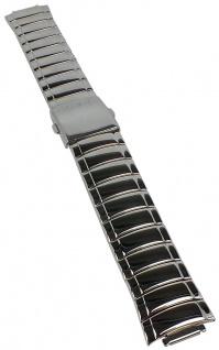Casio Armband | Uhrenarmband Edelstahl Band Silberfarben für Collection MTP-1325D