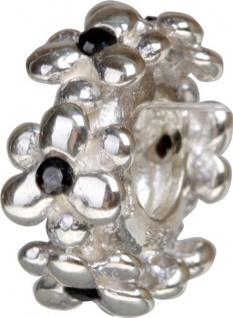 Charlot Borgen Marken Damen Bead Beads Drops Silber mit Zirkonia SCZ-25-schwarz