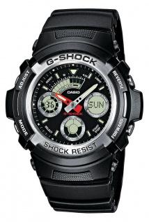 Casio G-Shock Digital-Analog Herrenuhr AW-590-1AER in schwarz mit Weltzeit Funktion