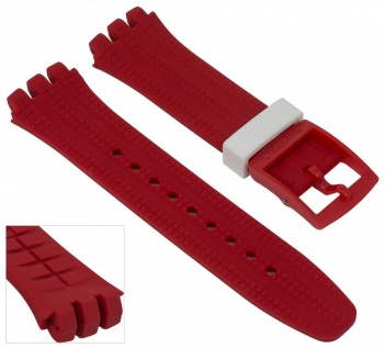 Swatch Spremuta Chrono Plastic | Uhrenarmband Silikon Band rot 19mm für SUSR403