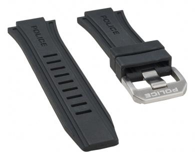 Police Cobra Uhrenarmband Kautschuk schwarz für P13845JS-02