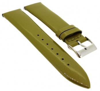Minott Ersatzband glänzend aus Leder in grün mit Easy Click Federstegen > 33114