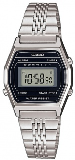 Uhr Casio Collection Retro Digital Edelstahl silberfarben LA690WEA-1EF