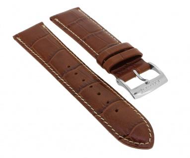 Citizen Uhrenarmband Leder braun mit Krokoprägung Kontrastnaht 20mm für BK2294 BK2295
