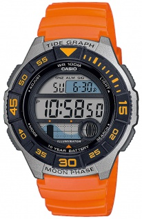Casio Collection Herren Armbanduhr digital orange Resinband Timer WS-1100H-4AVEF