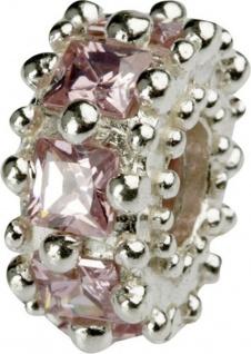 Charlot Borgen Marken Damen Bead Beads Drops Silber mit Zirkonia SCZ-11-Rosa - Vorschau