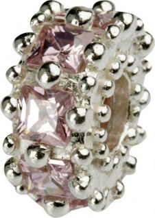 Charlot Borgen Marken Damen Bead Beads Drops Silber mit Zirkonia SCZ-11-Rosa