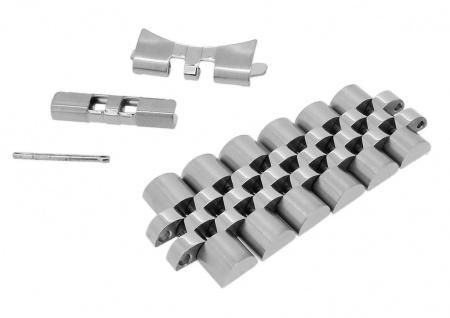 Minott 1 x 20mm Edelstahl Bandanstoß silberfarben passend für das Armband 34190