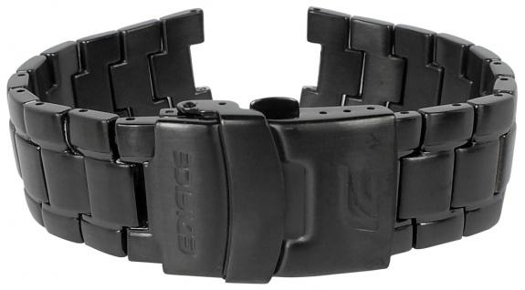 Casio Armband | Uhrenarmband Edelstahl Band IP Schwarz für Edifice EF-521BK