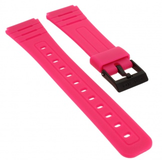 Casio Collection Uhrenarmband Ersatzband aus Resin für F-91WC pink