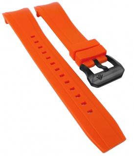 Citizen Eco Drive Uhrenarmband Silikon Band orange schwarzer Schließe BJ2119-06E