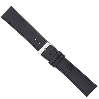 Uhrenarmband Ersatzband Leder Band Schwarz 26580S
