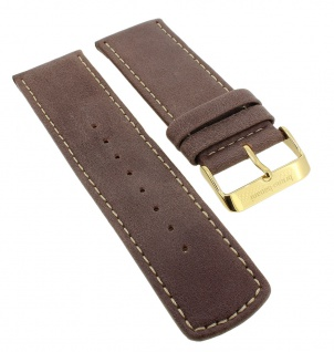 Bruno Banani Big Square Ersatzband 26mm in braun aus Leder SQ4 BR20687 BR20686 BR20682