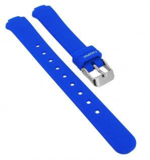 Calypso Ersatzband aus Silikon in blau mit Schließe silberfarben Spezial Anstoß K6069/3