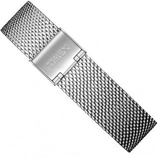 Timex Weekender Fairfield Ersatzband 18mm Milanaise Edelstahl silberfarben TW7C07800