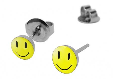 Minott Smiley Erstohrstecker Ohrschmuck Ohrringe Edelstahl 100 % Steril 21267