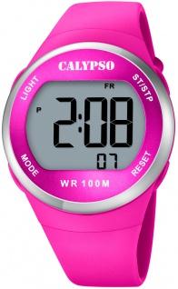 Calypso digitale Damen Armbanduhr | Kunststoffgehäuse & Band > pink | Datum > Alarm K5786/5