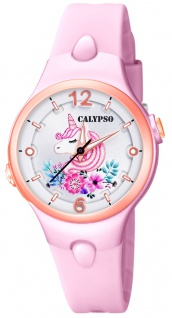 Calypso Kinderuhr analog Quarz Kunststoff rosa K5783/2