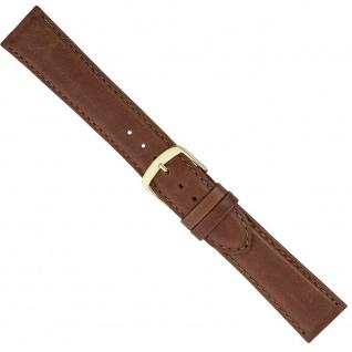 Uhrenarmband Ersatzband Leder Band Braun 26557G - Vorschau 1