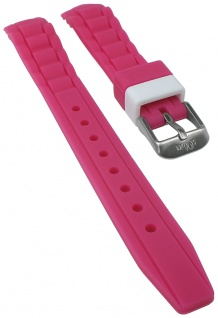 s.Oliver Uhrenarmband Silikon Band sehr weich 14mm pink SO-2591-PQ