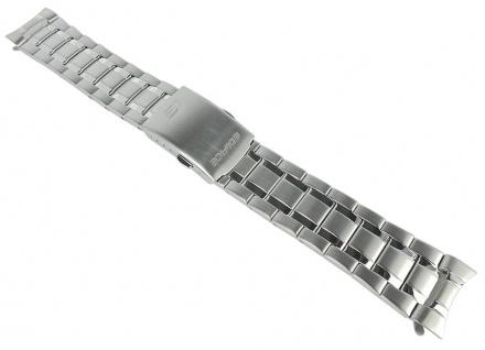Casio Armband | Uhrenarmband Edelstahl Band Silberfarben für EFR-553D-1BVER