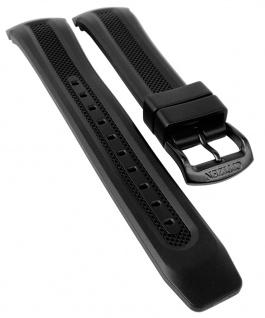 Citizen Eco Drive Uhrenarmband Silikon Band schwarz schwarze Schließe CA0125-07E
