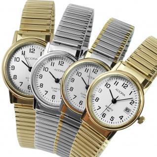 Damenuhr Armbanduhr Analoguhr Edelstahluhr mit Zugband Datumsanzeige Adora 28728