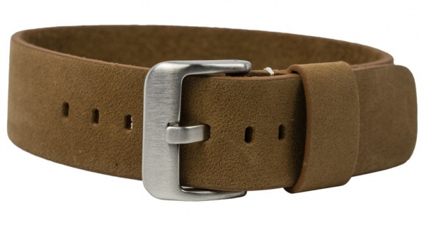 Uhrenarmband Leder Vintage-Look   Durchzugsband hellbraun in 18mm 20mm 22mm