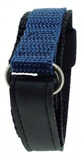 s.Oliver Ersatzband 14mm Klettverschluß schwarz / blau Nylon SO-1154-LQ
