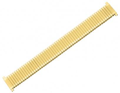 Minott Zugflexiband 12-16mm gelbgoldfarben Teleskopanstoß Edelstahl/PVD - Vorschau
