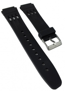 HIRSCH | Uhrenarmband > Kunststoffband > Edelstahl Dornschließe | schwarz | 36703