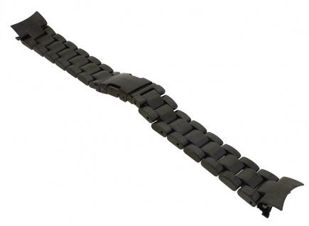 Timex Intelligent Chronograph > Ersatzband aus Edelstahl schwarz mit rundem Anstoß TW2P72800