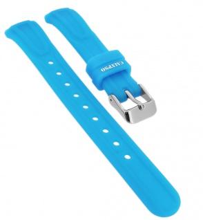 Calypso Ersatzband aus Silikon in blau mit Schließe silberfarben Spezial Anstoß ? K6070/3