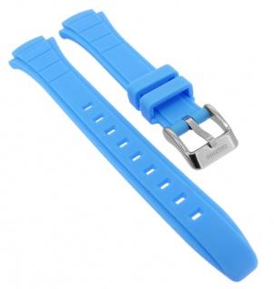 Calypso Ersatzband aus Kunststoff in blau mit Schließe silberfarben K5756/2
