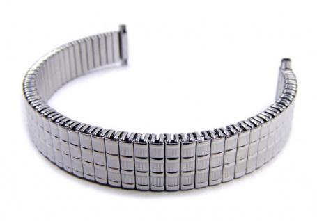 Minott Flex Band Uhrenarmband Edelstahl Zugband mit Teleskop-Anstoß 20985