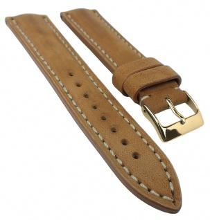 Vintage Chrono Uhrenarmband 20mm / 22mm / 24mm | Leder crema / beige 32307