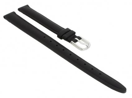 Timex Easy Reader | Ersatzband 12mm | Leder schwarz mit Schließe silberfarben für T2H331