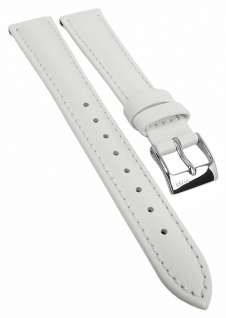 Hugo Boss Ersatzband 16mm Leder weiß gepolstert genarbt 119518