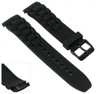 s.Oliver Uhrenarmband Silikon Band 22mm schwarz weich SO-2320-PQ