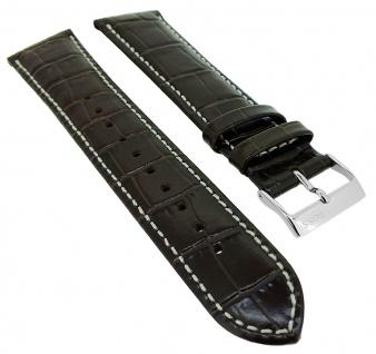 Hugo Boss Ersatzband Krokoprägung 20mm Leder braun 1513598