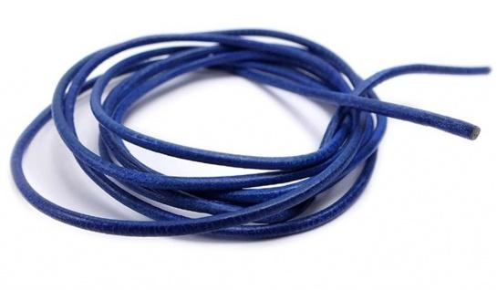 Minott Halskette Ziegenleder Lederriemen Lederband 100cm Blau 22086