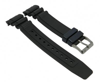 Kunststoff Gummi Band schwarz passend zu Citizen Promaster Taucheruhr BN0100
