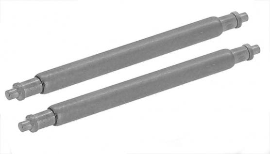 Minott Zwei hochwertige Federstege (Ø) 1, 8mm aus Edelstahl 22mm Schweizer Qualität 33001