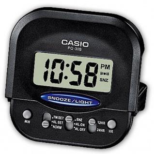 Casio Digital Wecker mit Snooze schwarz PQ-30B-1EF