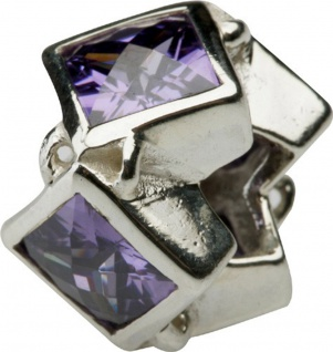 Charlot Borgen Marken Damen Bead Beads Drops Silber mit Zirkonia SCZ-17-Lila
