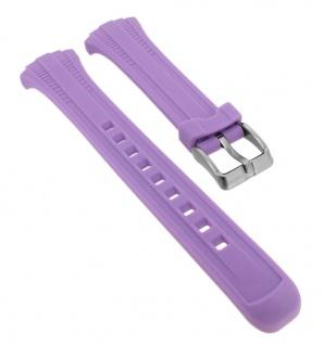 Calypso Ersatzband aus Silikon in lila mit Schließe silberfarben Spezial Anstoß K5744/3