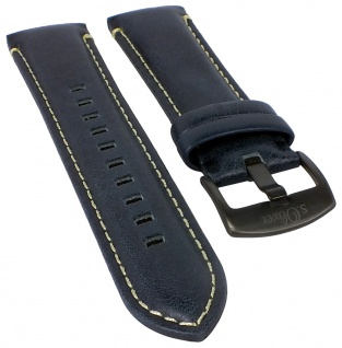 s.Oliver Uhrenarmband Leder Band blau 22mm - SO-3181-LC